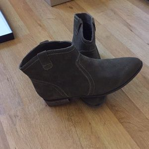 Restricted Suede Olive Green Booties